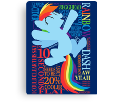 The Many Words of Rainbow Dash Canvas Print