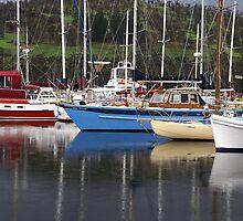 Yachts at Port Huon - Tasmania by Paul Gilbert