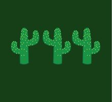 Three cactuses cacti green by jazzydevil