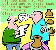 Cartoon - Pottery class, not poetry. by NigelSutherland