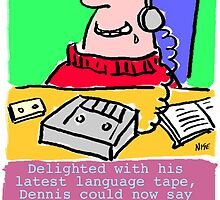 Cartoon - Pervert takes language course. by NigelSutherland