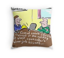 Cartoon - Marriage Guidance counsellor gives extra lessons. Throw Pillow
