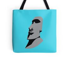Easter island creepy large faced rock Tote Bag