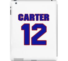 Basketball player Butch Carter jersey 12 iPad Case/Skin