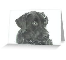 Luna - graphite Greeting Card