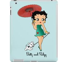 Betty Boop & Pudgy - Out For A Stroll iPad Case/Skin