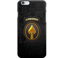 U.S. Special Operations Command - USSOCOM Patch 3D on Black Velvet iPhone Case/Skin