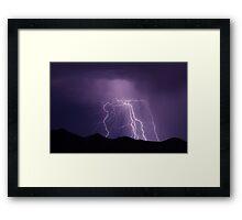 Electrical Storm Framed Print