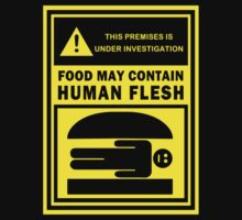 Food May Contain Human Flesh by 01Graphics