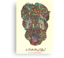 acid skull Canvas Print