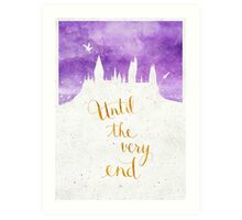 """Harry Potter """"Until the very end"""" Art Print"""