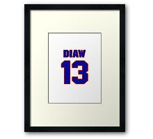 Basketball player Boris Diaw jersey 13 Framed Print