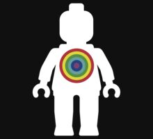 White Minifig with Rainbow Target by ChilleeW