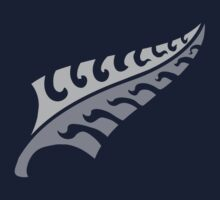 New jagged trendy Silver fern New Zealand symbol Kids Clothes