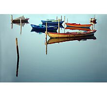 fishing boats in Mesolonghi Photographic Print