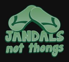 JANDALS not thongs with funny New Zealand  Kids Clothes
