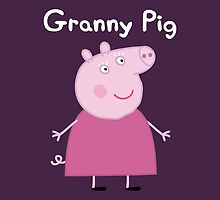 Granny Pig Throw Pillow/Tote Bag by Russ Jericho
