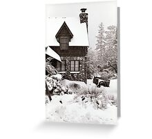Mt. Baldy Cabin in a Snowstorm Greeting Card