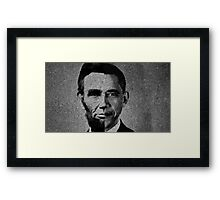 Impressionist Interpretation of Lincoln Becoming Obama Framed Print