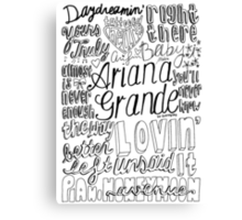 yours truly collage Canvas Print