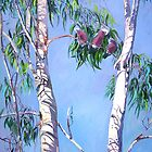 Tambo Trees with some local Residents. by Virginia McGowan