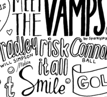 the vamps collage Sticker