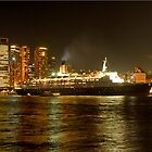 QE2 Harbour Bridge Panorama by DavidIori