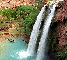Havasupai Falls Alone by Mark Ramstead