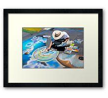 Calk Color Artist. Imadinari Festival Framed Print