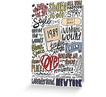 taylor swift collage COLORED Greeting Card