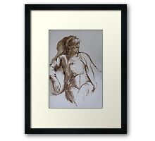 Life Study in Brush and Ink Framed Print