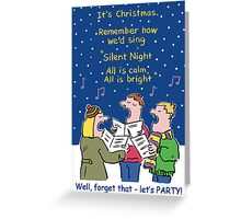 Christmas Card - Silent Night. Greeting Card