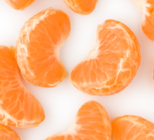 Peeled Tangerine as Healthy and Nutritious Fruit Sticker