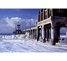 Huntington Beach Pier, Long Ago Photographic Print