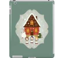 Little Carolers Christmas Card - Holiday Saying iPad Case/Skin