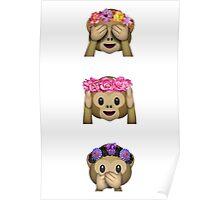 Monkey Emoji Print Poster