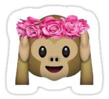 Monkey Emoji Print Sticker