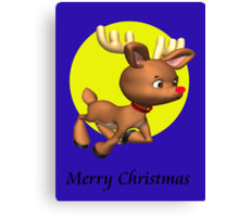 Rudolph wishes you a.... Canvas Print