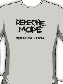 Depeche Mode : People are People - 1 - Black T-Shirt