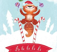 Falalalala Christmas Card by SillyHilli