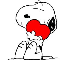 Snoopy in love Photographic Print