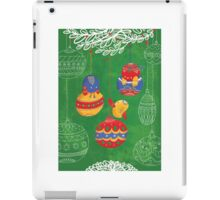 Have yourself a chirpy little Christmas - green iPad Case/Skin