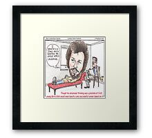 Bee Gee In Therapy  Framed Print
