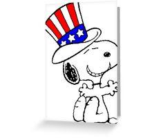 USA Snoopy Greeting Card