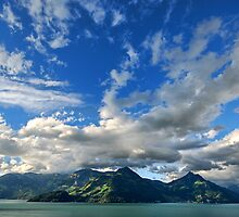 Mountains and clouds by Philippe Sainte-Laudy