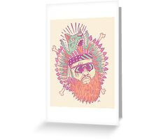 All American Action Bronson  Greeting Card