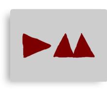 Depeche Mode : Medium Logo DM 2013 - Red Canvas Print