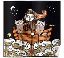 Kerrys Seafaring Kitties Poster