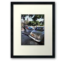 Taxis Near El Capitolio Framed Print