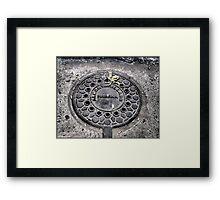 Manhole Cover, Havana Framed Print